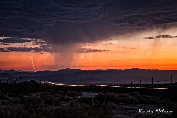 Lightning Strike Nevada Night