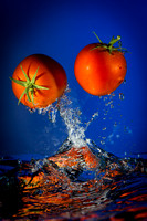 Fresh Vegetables in Water Splash by Rusty Nelson
